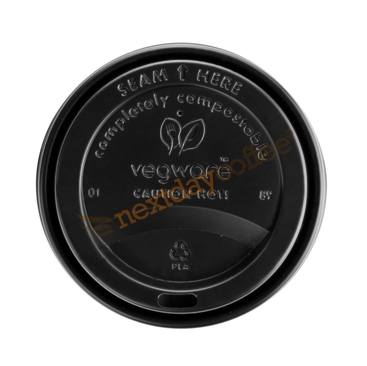 6/8oz Vegware Black Compostable Sip Lids (1000)