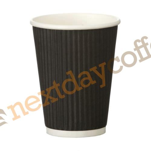 12oz Black Ripple Cups (500)