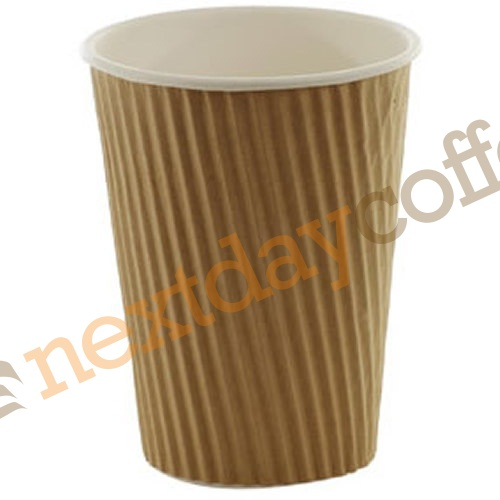 12oz Kraft Brown Ripple Cups (100)
