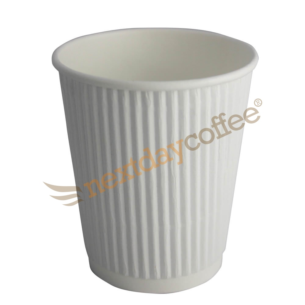 12oz White Ripple Cups (500)
