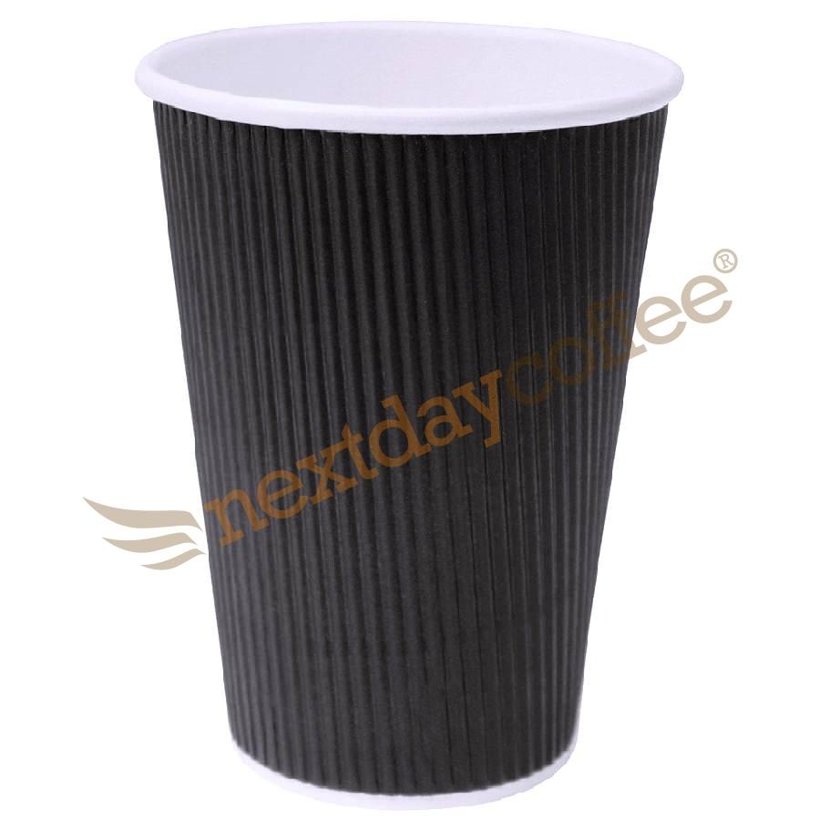 16oz Black Ripple Cups (100)