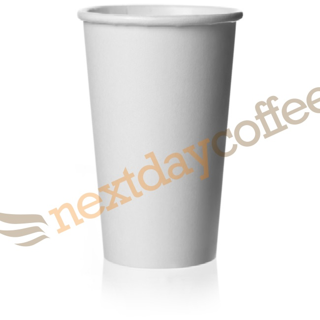 16oz Single Wall White Paper Cups (100)