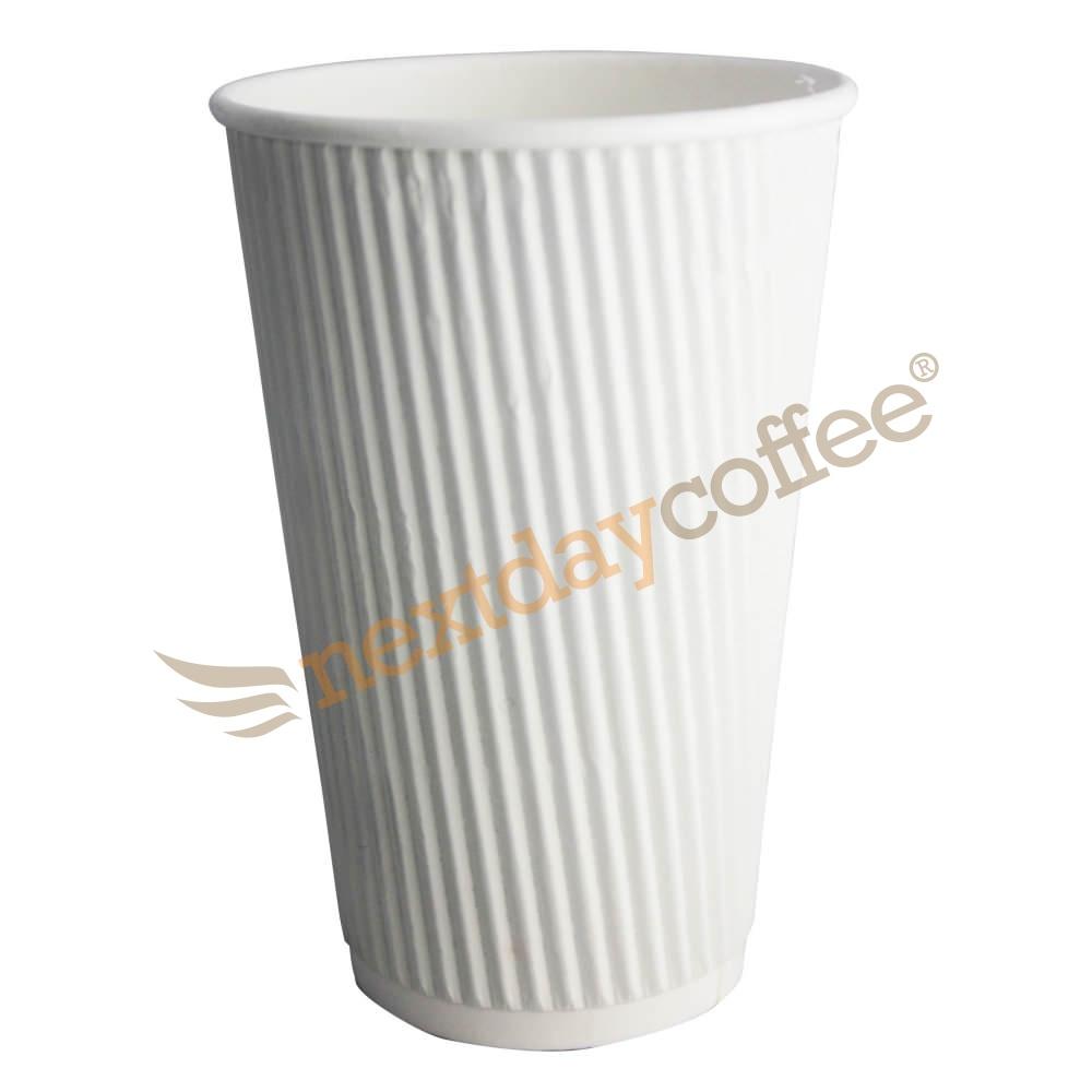 16oz White Ripple Cups (100)