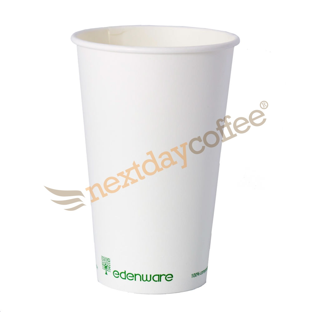16oz Single Wall Compostable Edenware White Cup (100)