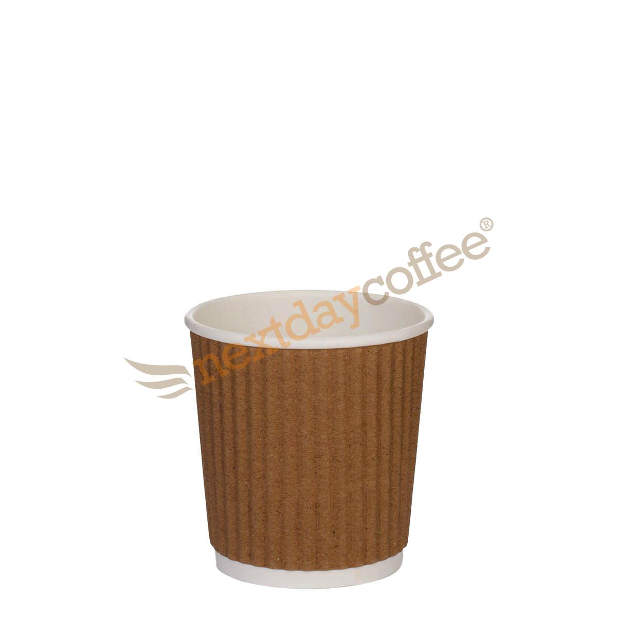 4oz Kraft Brown Ripple Cups (1000)