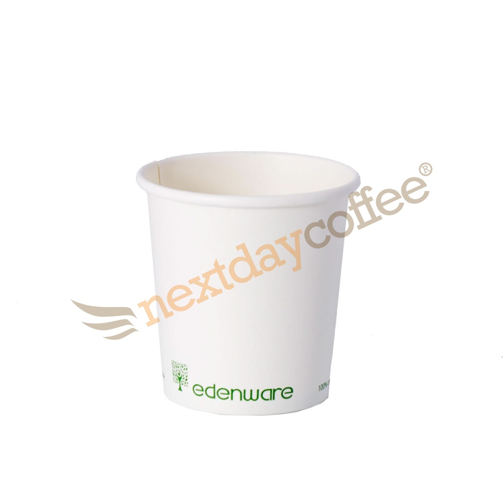4oz Single Wall Compostable Edenware White Cup (1000)