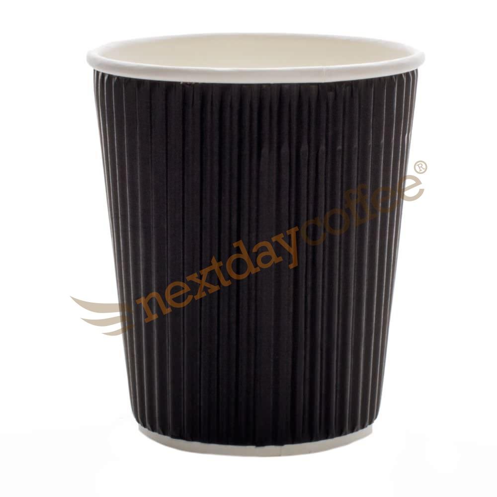 8oz Black Ripple Cups (500)