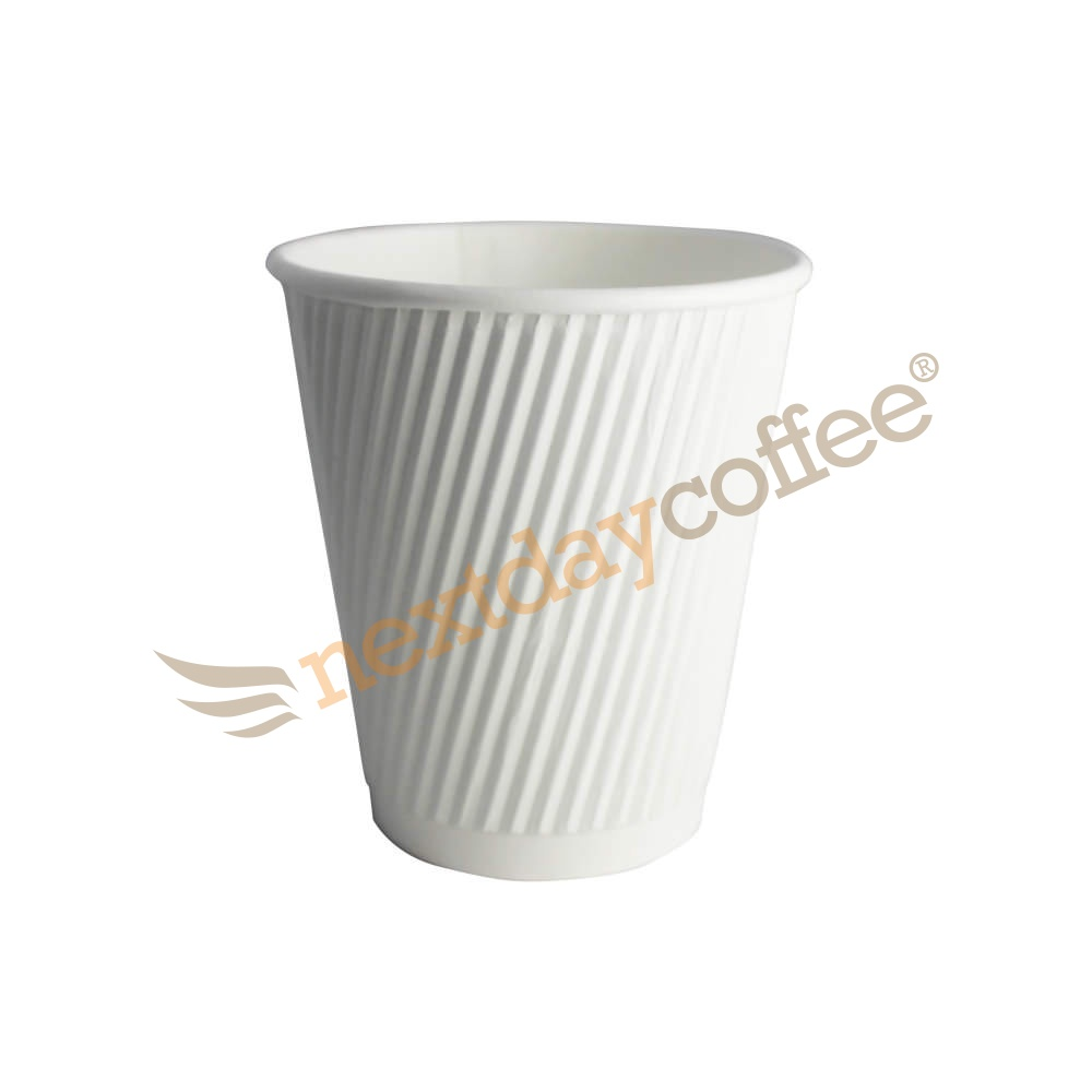 8oz White Ripple Cups (500)