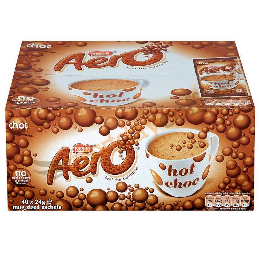 Nestle Aero Hot Chocolate Instant Sachets (40 Pack)