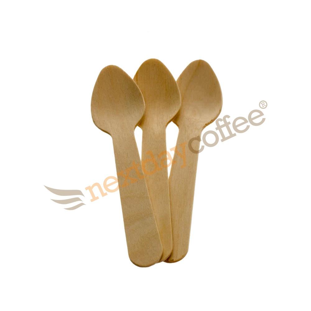 Biodegradable Wooden Teaspoons (100)
