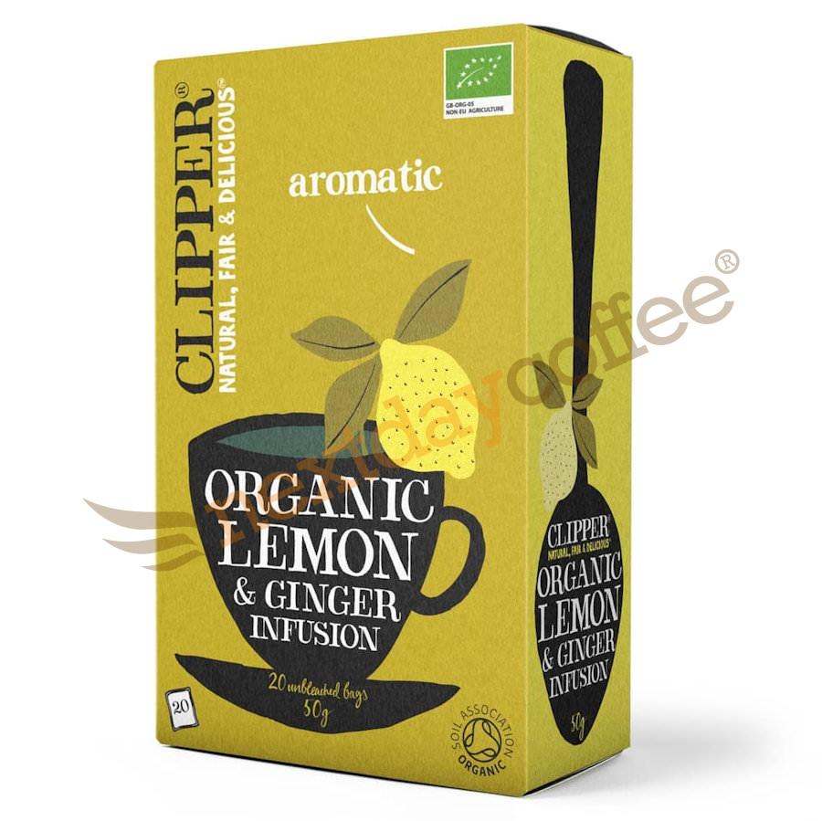 Clipper Organic Lemon And Ginger Envelope Tea (25)