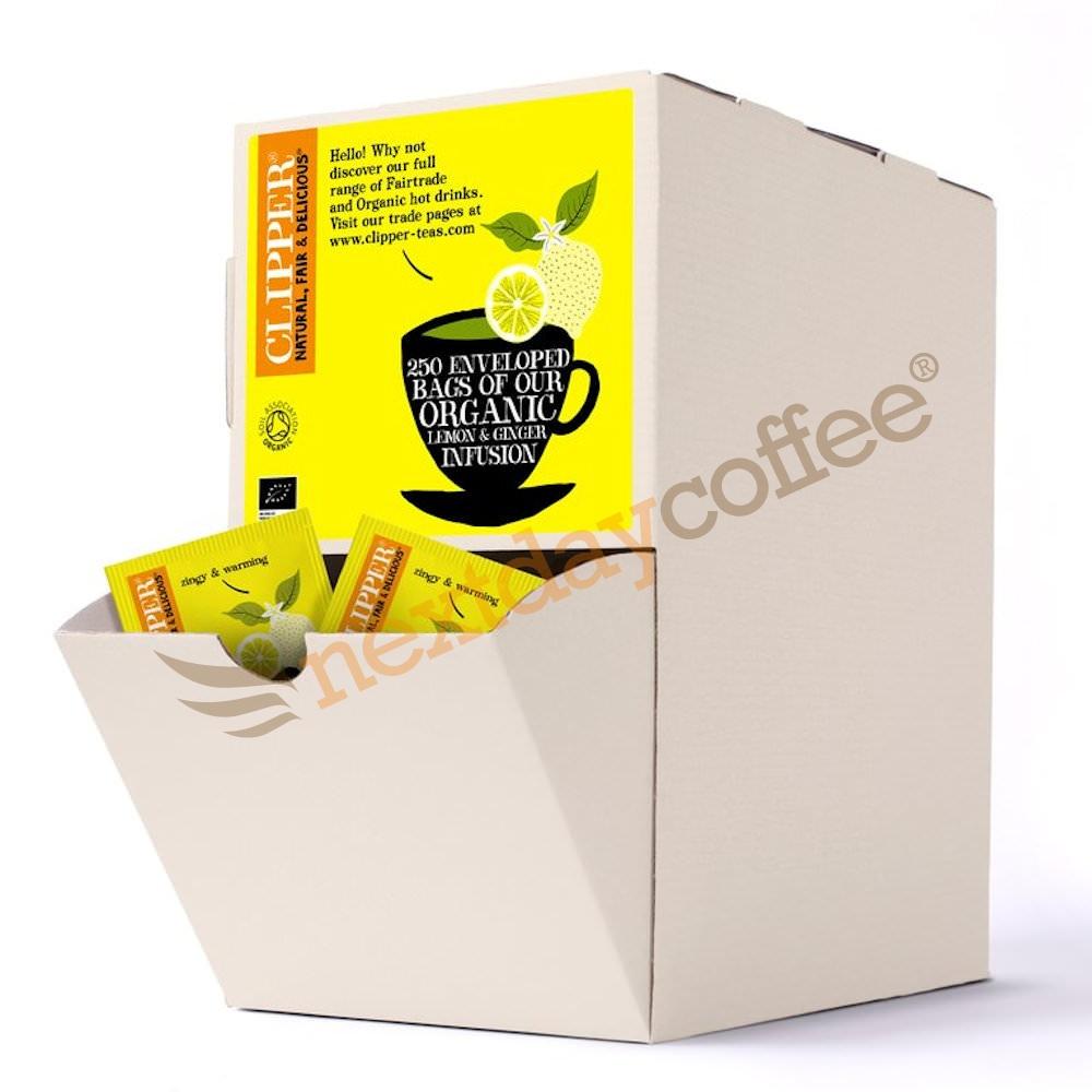 Clipper Organic Envelope Lemon and Ginger Tea (250)