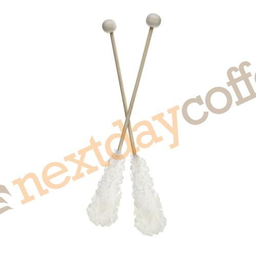 Crystal Sugar Sticks Wrapped - White (100)