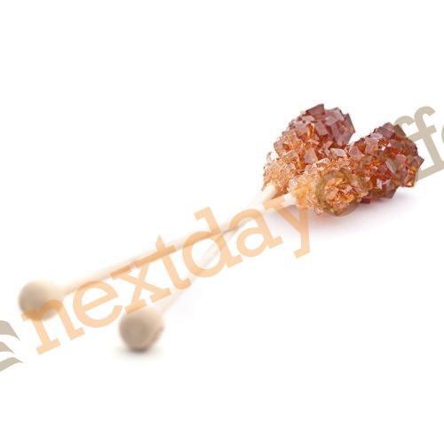 Crystal Sugar Sticks Wrapped - Brown (100)