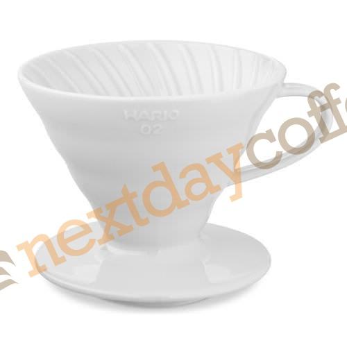 Hario V60 01 Dripper - Ceramic White