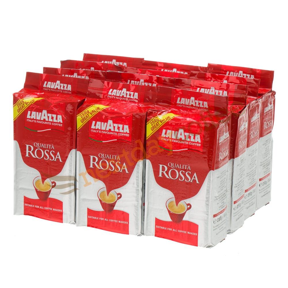 Lavazza Qualita Rossa Ground Coffee (12 x 250g)