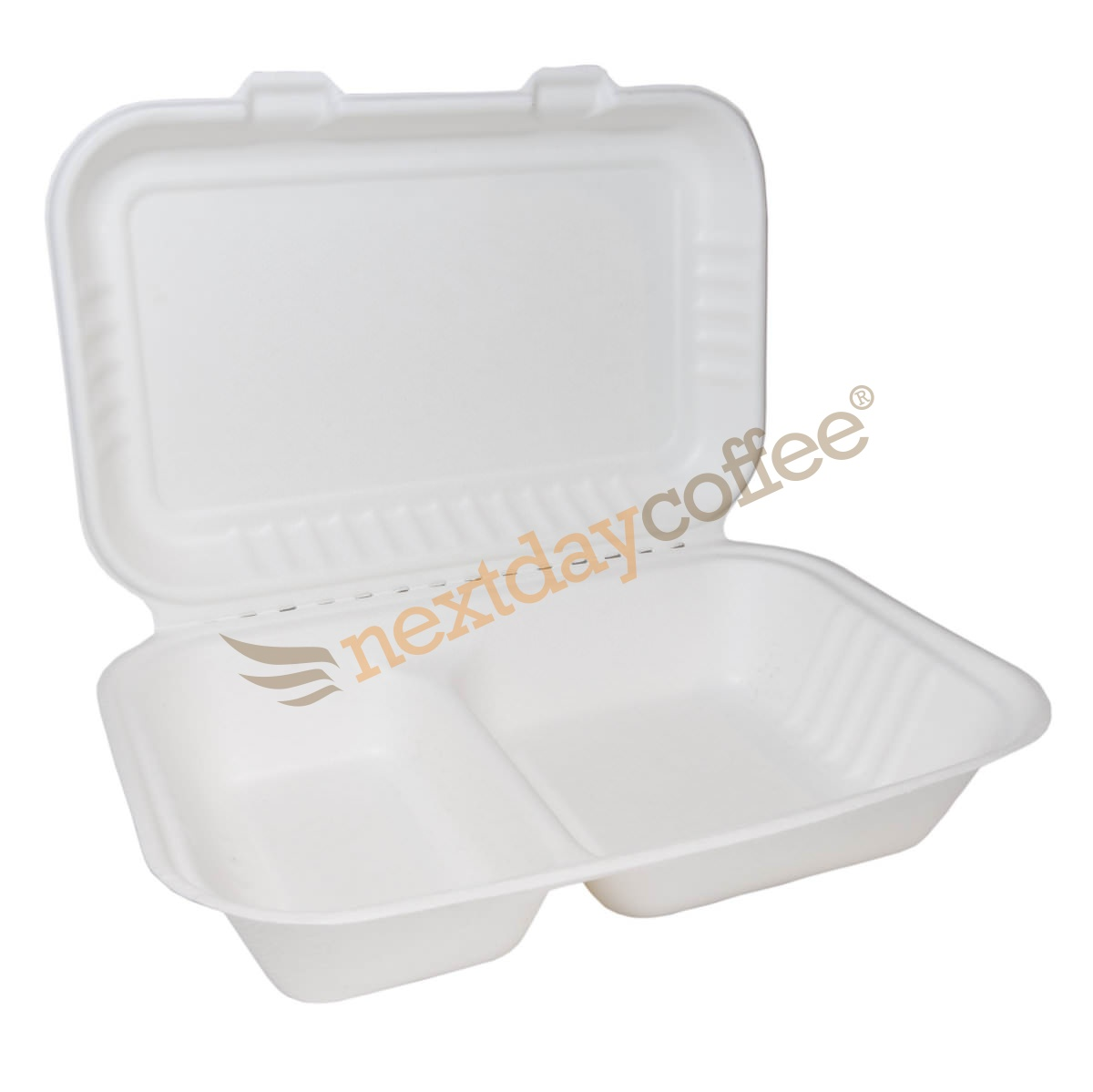 Bagasse Clamshell Large with 2 Compartments (250)