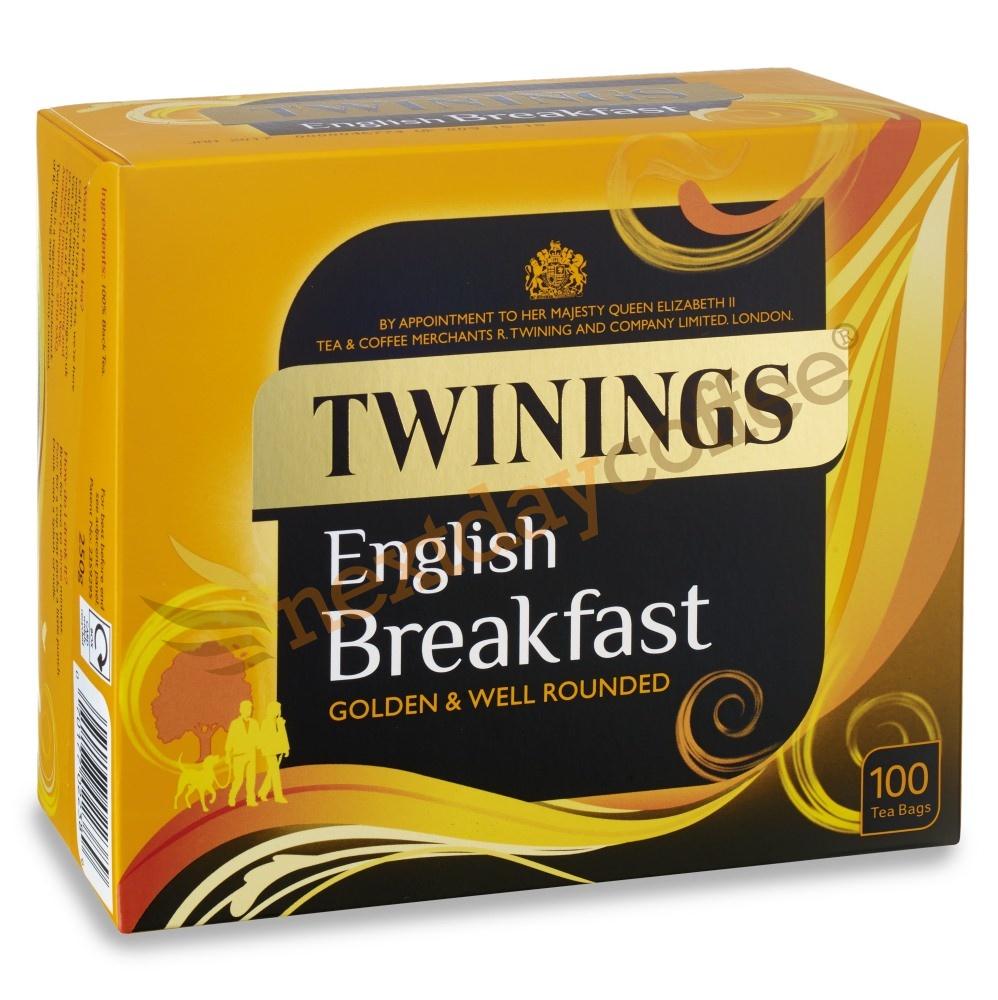 Twinings English Breakfast String & Tag Tea (100 bags)