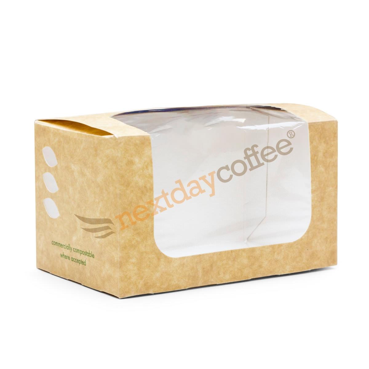 Vegware Compostable Bloomer Sandwich Kraft Carton (500)