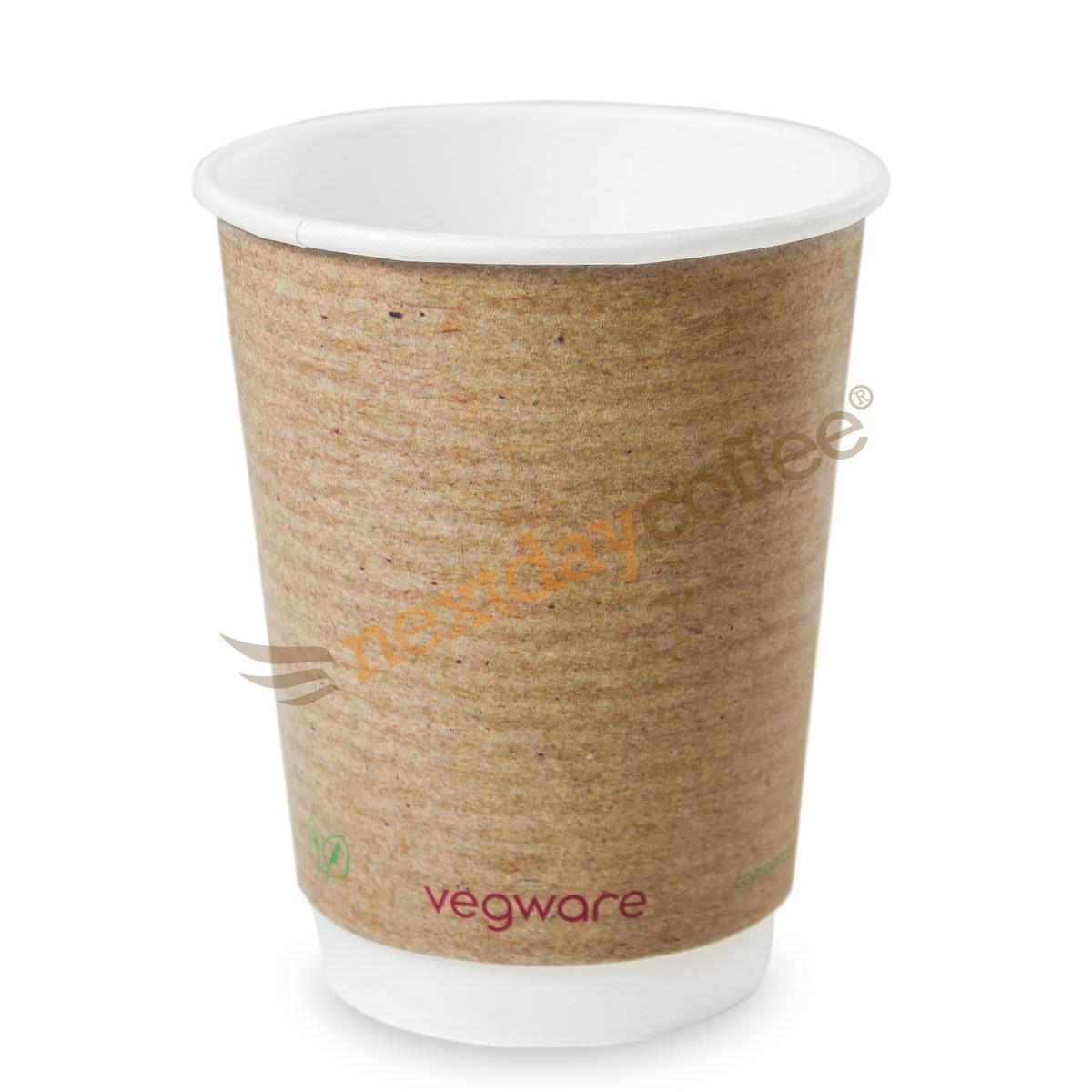 12oz Double Wall Compostable Vegware Kraft Cup (100)
