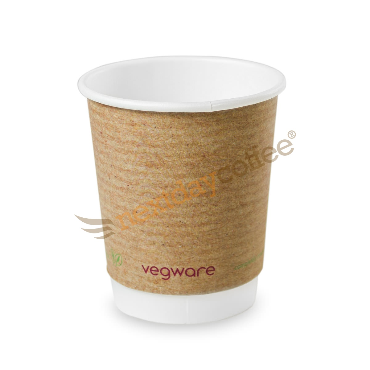 8oz Double Wall Compostable Vegware Kraft Cup (100)