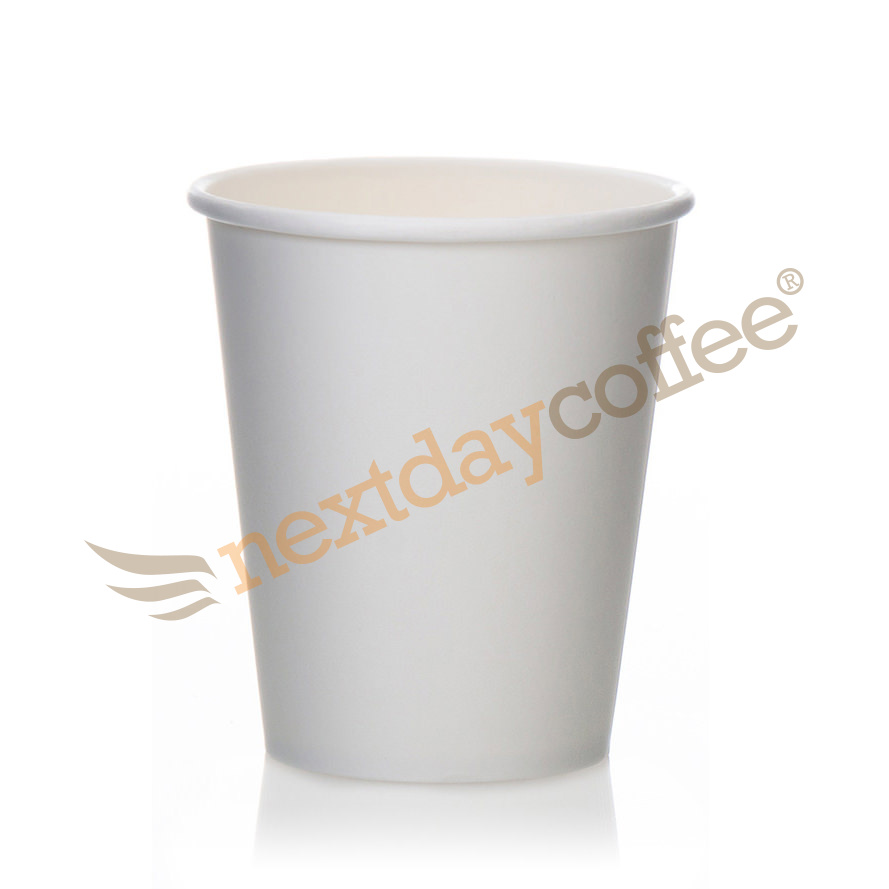 8oz Single Wall White Paper Cups (1000)