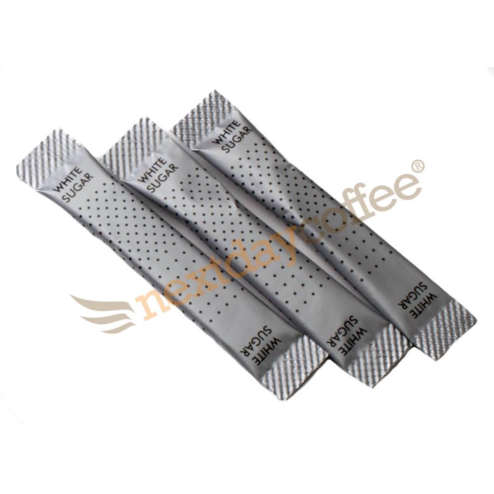 White Sugar Sticks - Metallic Design (1000)