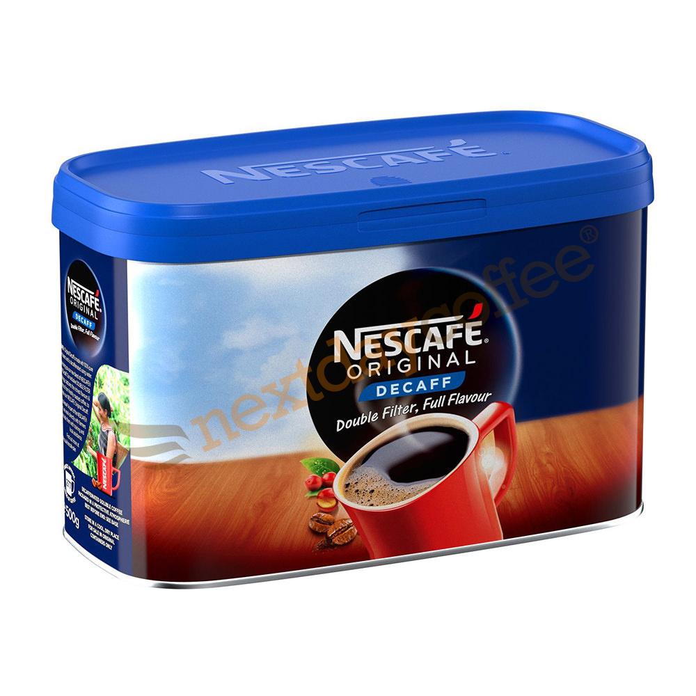 Nescafe Instant Decaffeinated Coffee Granules (500g Tin)