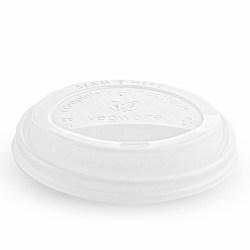 10/12/16oz Vegware White Compostable Sip Lids (100)