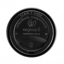 6/8oz Vegware Black Compostable Sip Lids (1000)