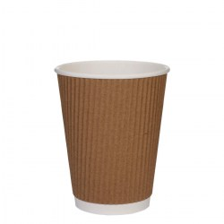 12oz Kraft Brown Ripple Cups (500)