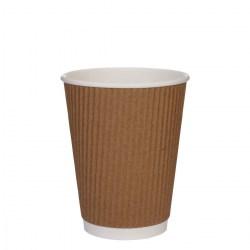 12oz Kraft Brown Ripple Cups (500)