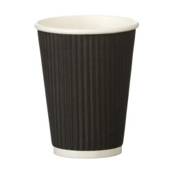 12oz Black Ripple Cups (500)