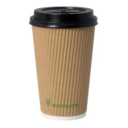 16oz Kraft Ripple Compostable Paper Cup (100)