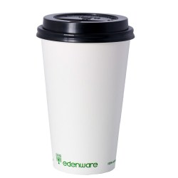 16oz Single Wall Compostable Edenware White Cup (100)