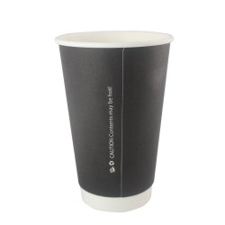 16oz Double Wall Cups - Matt Black (500)