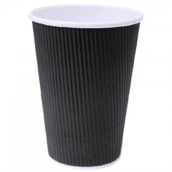 16oz Black Ripple Cups (100)