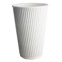 16oz White Ripple Cups (100)