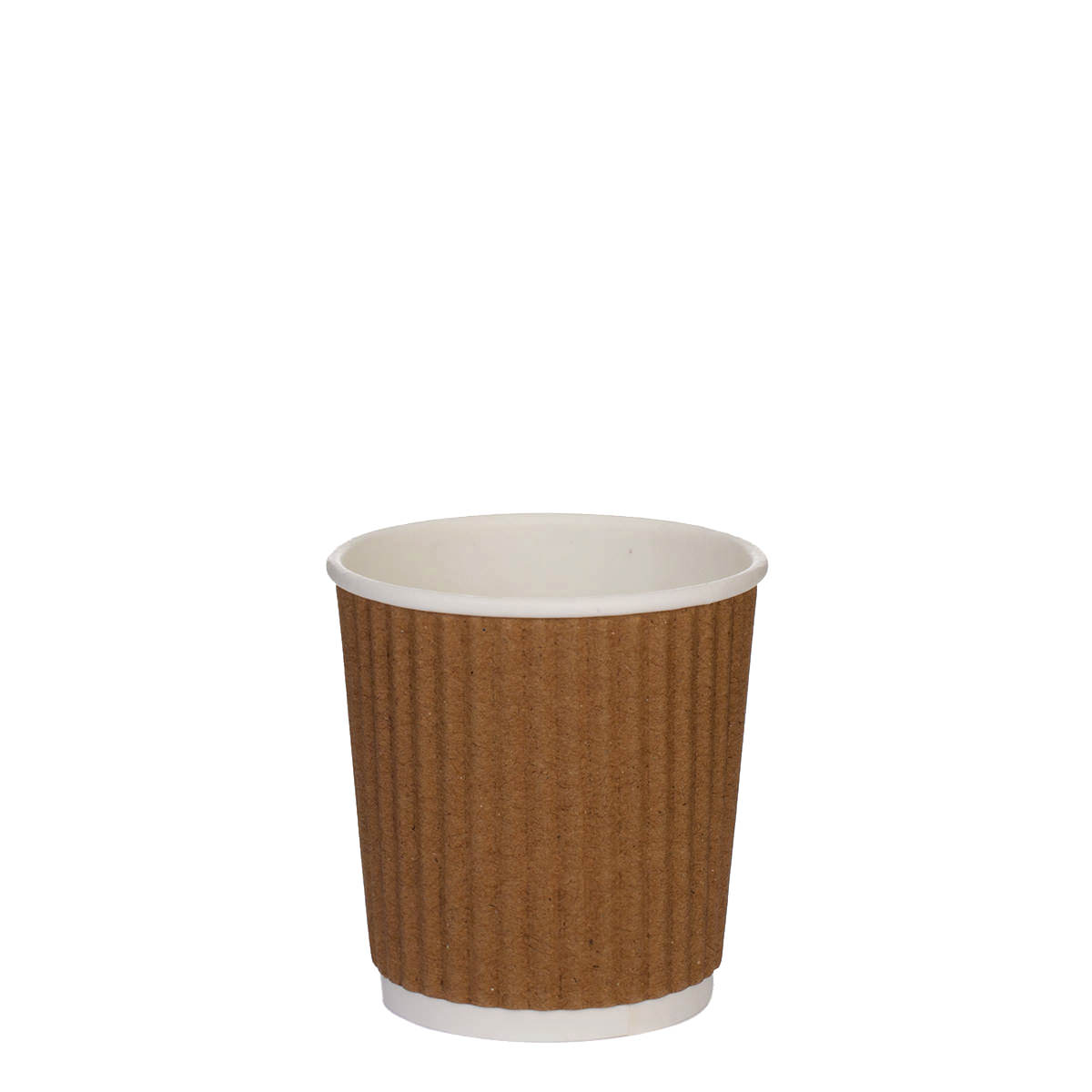 4oz Kraft Brown Ripple Cups (100)