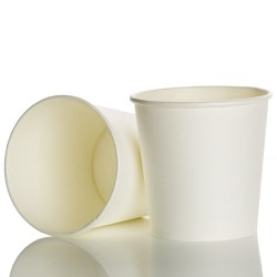 4oz Single Wall White Paper Cups (100)