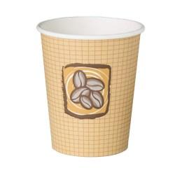 8oz Single Wall Cups - Hot Bean Design (100)