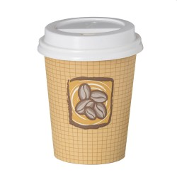 8oz Single Wall Cups - Hot Bean Design (1000)