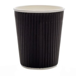 8oz Black Ripple Cups (500)
