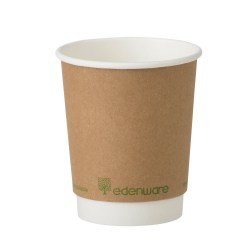 8oz Double Wall Compostable Paper Cups (100)