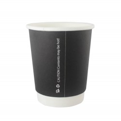 8oz Double Wall Cups - Matt Black (500)