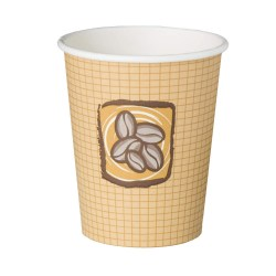 8oz Single Wall Cups - Hot Bean Design (1000)