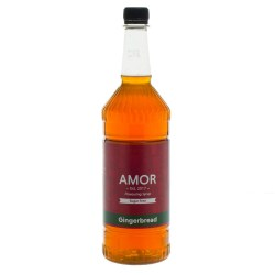 Amor Gingerbread Sugar Free Syrup (1 Litre)