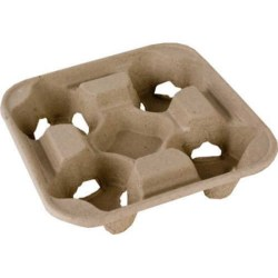 Disposable Takeaway Cup Carry Trays - 4 Cup (90)