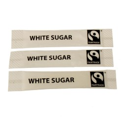 Fairtrade White Sugar Sticks (1000)