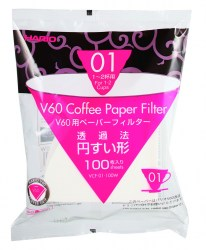 Hario V60 01 White Filter Papers (100 pack)